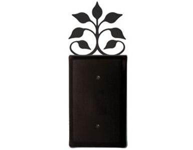 Leaf Fan Wrought Iron Switch Plate / 1 Plain