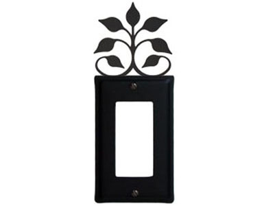 Leaf Fan Wrought Iron Switch Plate / 1 Rocker