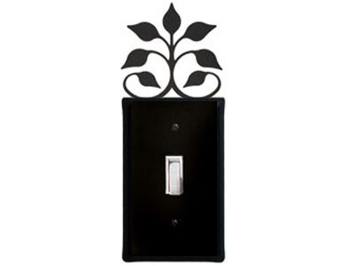Leaf Fan Wrought Iron Switch Plate / 1 Toggle