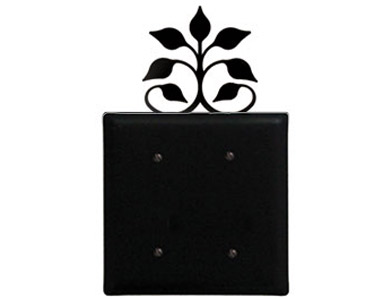 Leaf Fan Wrought Iron Switch Plate / 2 Plain