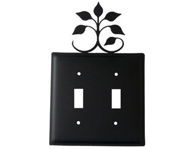 Leaf Fan Wrought Iron Switch Plate / 2 Toggle