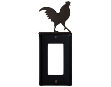 Rooster Wrought Iron Switch Plate / 1 Rocker
