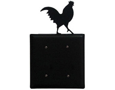 Rooster Wrought Iron Switch Plate / 2 Plain