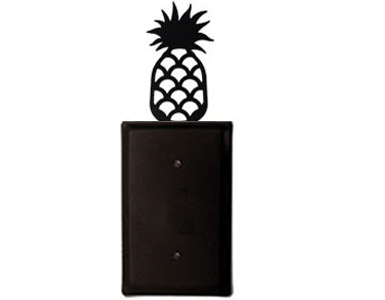 Pineapple Wrought Iron Switch Plate / 1 Plain