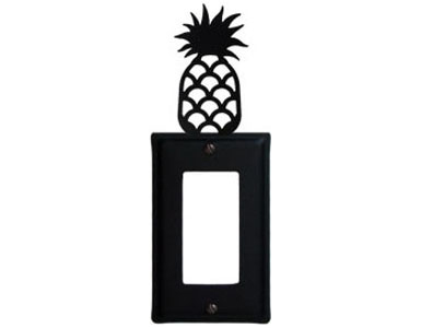 Pineapple Wrought Iron Switch Plate / 1 Rocker