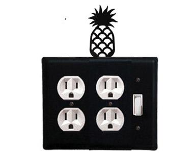 Pineapple Wrought Iron Switch Plate / 2 Duplex - 1 Toggle