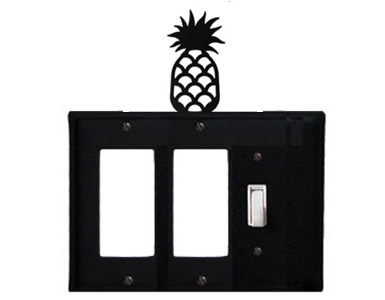 Pineapple Wrought Iron Switch Plate / 2 Rocker - 1 Toggle