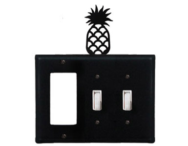 Pineapple Wrought Iron Switch Plate / 1 Rocker - 2 Toggle