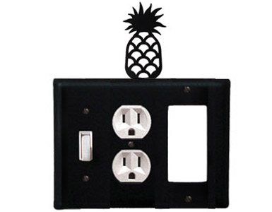 Pineapple Wrought Iron Switch Plate / 1 Toggle - 1 Duplex - 1 Rocker