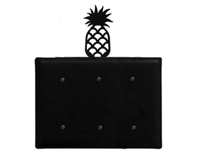 Pineapple Wrought Iron Switch Plate / 3 Plain