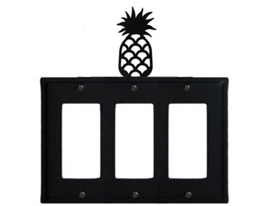 Pineapple Wrought Iron Switch Plate / 3 Rocker
