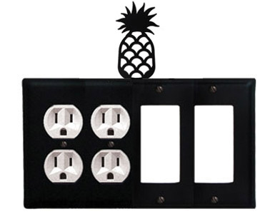 Pineapple Wrought Iron Switch Plate / 2 Duplex - 2 Rocker