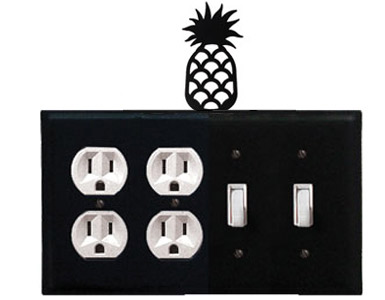 Pineapple Wrought Iron Switch Plate / 2 Duplex - 2 Toggle