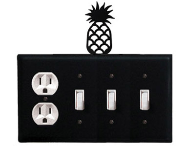 Pineapple Wrought Iron Switch Plate / 1 Duplex - 3 Toggle