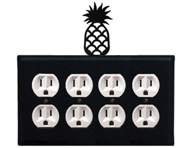 Pineapple Wrought Iron Outlet Cover / 4 Duplex