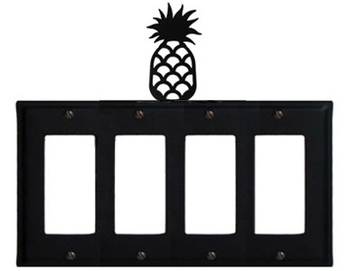 Pineapple Wrought Iron Switch Plate / 4 Rocker