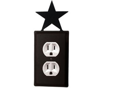Star Wrought Iron Outlet Cover / 1 Duplex