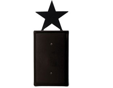 Star Wrought Iron Switch Plate / 1 Plain
