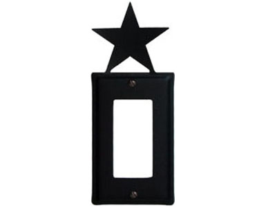 Star Wrought Iron Switch Plate / 1 Rocker