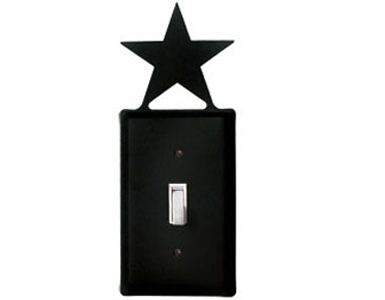 Star Wrought Iron Switch Plate / 1 Toggle