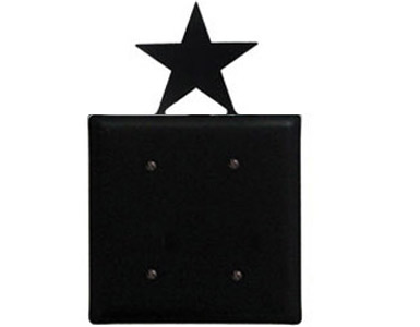 Star Wrought Iron Switch Plate / 2 Plain