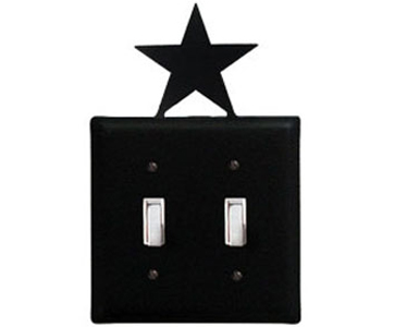 Star Wrought Iron Switch Plate / 2 Toggle