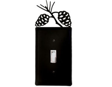 Pine Cone Wrought Iron Switch Plate / 1 Toggle