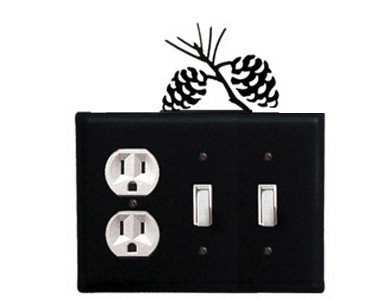 Pine Cone Wrought Iron Switch Plate / 1 Duplex - 2 Toggle