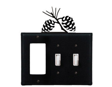 Pine Cone Wrought Iron Switch Plate / 1 Rocker - 2 Toggle