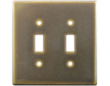 Frosted Malt Ceramic Switch Plate / 2 Toggle