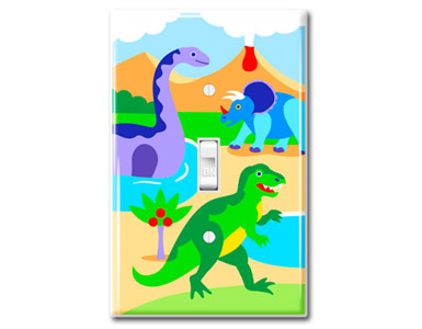 Dinosaurs Kids Switch Plate / 1 Toggle