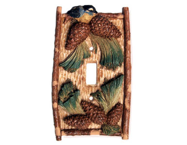 Pinecone Switch Plate / 1 Toggle
