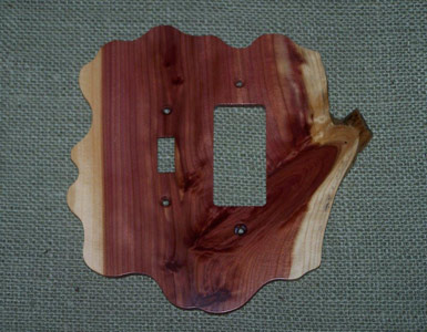 Stoney Ridge Cedar Switch Plate / 1 Toggle - 1 Rocker