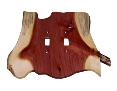 Stoney Ridge Cedar Switch Plate / 2 Toggle