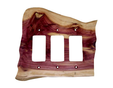 Stoney Ridge Cedar Switch Plate / 3 Rocker