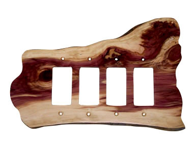 Stoney Ridge Cedar Switch Plate / 4 Rocker