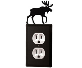 Moose Wrought Iron Switchplate Cover