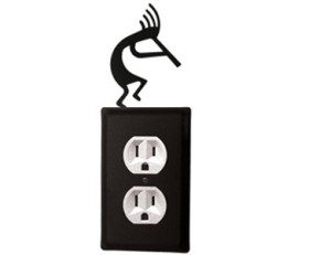 Kokopelli Wrought Iron Switchplate Cover