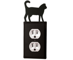 Cat Wrought Iron Switchplate Cover