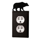 Bear Wrought Iron Switchplate Cover