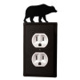 Bear Wrought Iron Outlet Cover / 1 Duplex