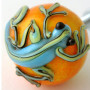 Yellow Drawer Knob with Tropical Blue Gecko