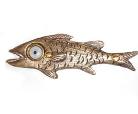 Garth Fish Doorbell – Bronze