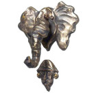 Eudora the Elephant & Hunter Doorknocker – Bronze