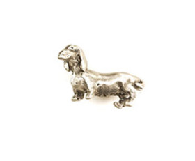 Weiner Dog Full Body Cabinet Knob – Pewter