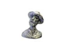 Vincent Van Gogh Bust Cabinet Knob – Pewter