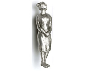 Simone the Woman Medium Cabinet Pull 1″ CC – Pewter
