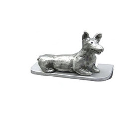 Owen the Dog U-Shaped Cabinet Pull 3″ CC – Pewter
