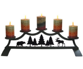 Moose – Fireplace Pillar Candle Holder
