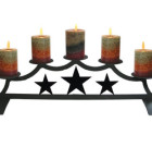 Star – Fireplace Pillar Candle Holder